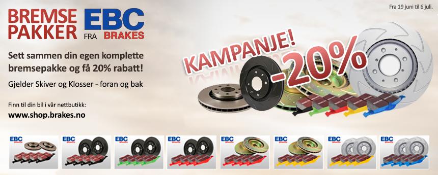 Bremsepakker fra EBC Brakes!