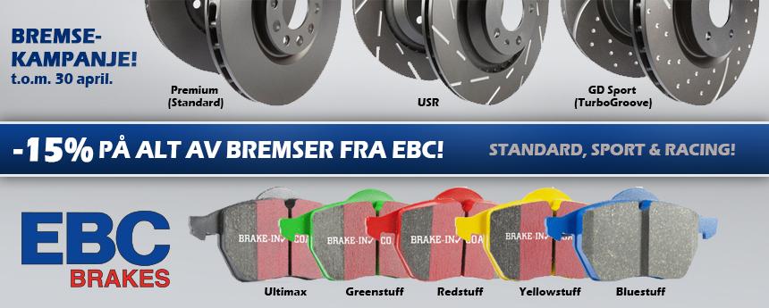 EBC Brakes Norge bremsekampanje